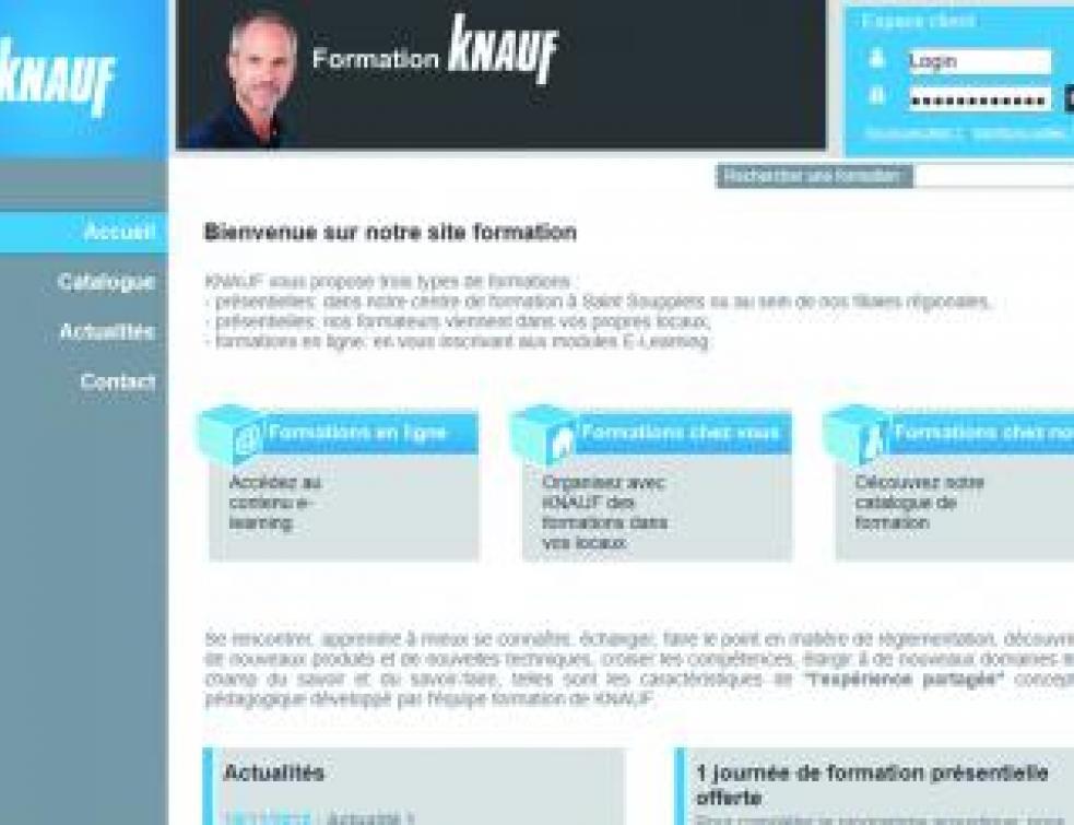 Knauf lance des modules de formation en ligne