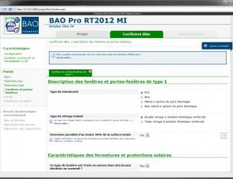 Un outil de calcul pour appliquer facilement la RT 2012