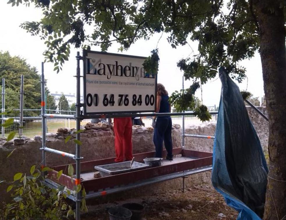 Layher soutient la rénovation des monuments abandonnés