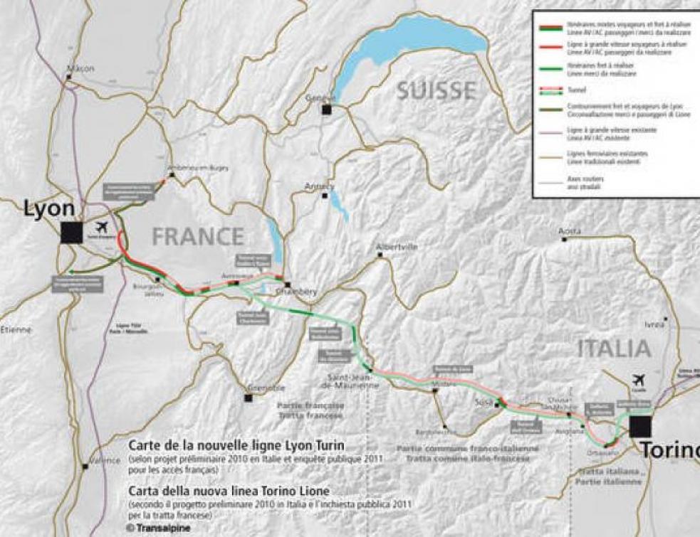 Grenoble ne souhaite plus financer la ligne Lyon-Turin