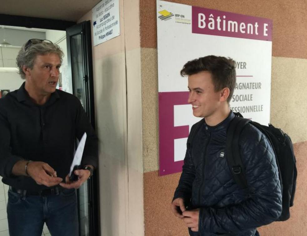 William a fait sa rentrée au CFA BTP de St-Herblain