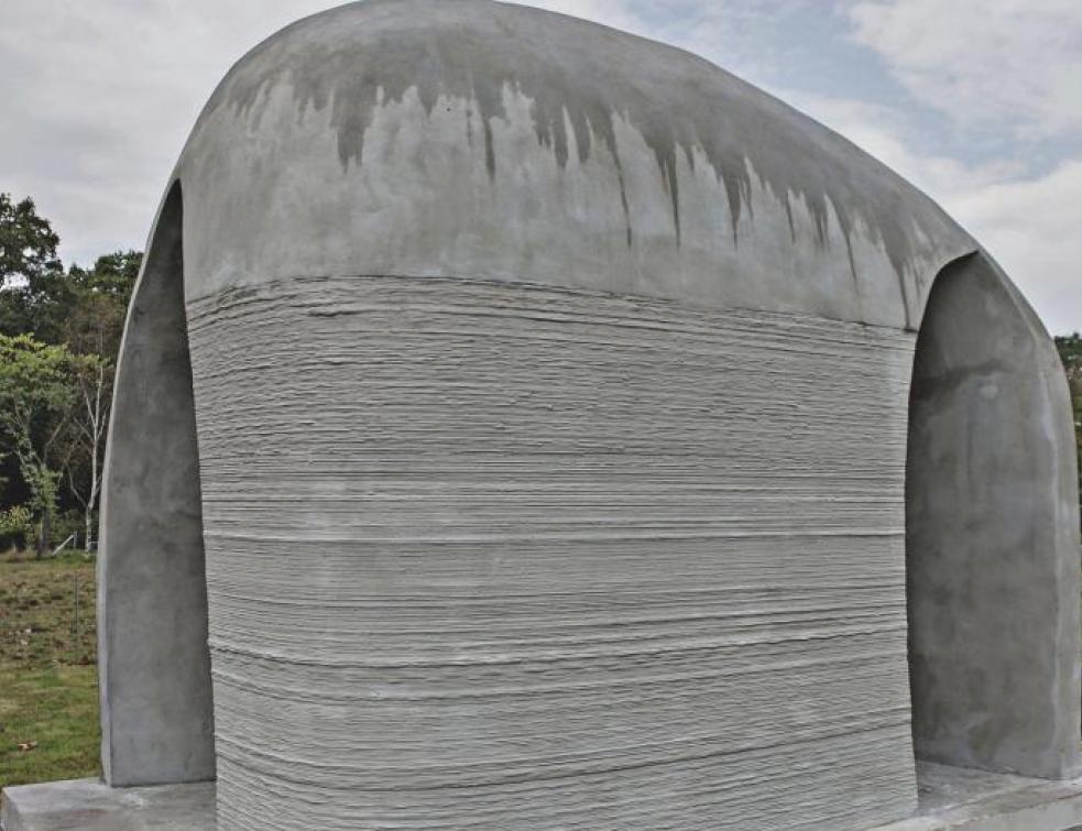 Découvrez un pavillon en béton imprimé en 3D