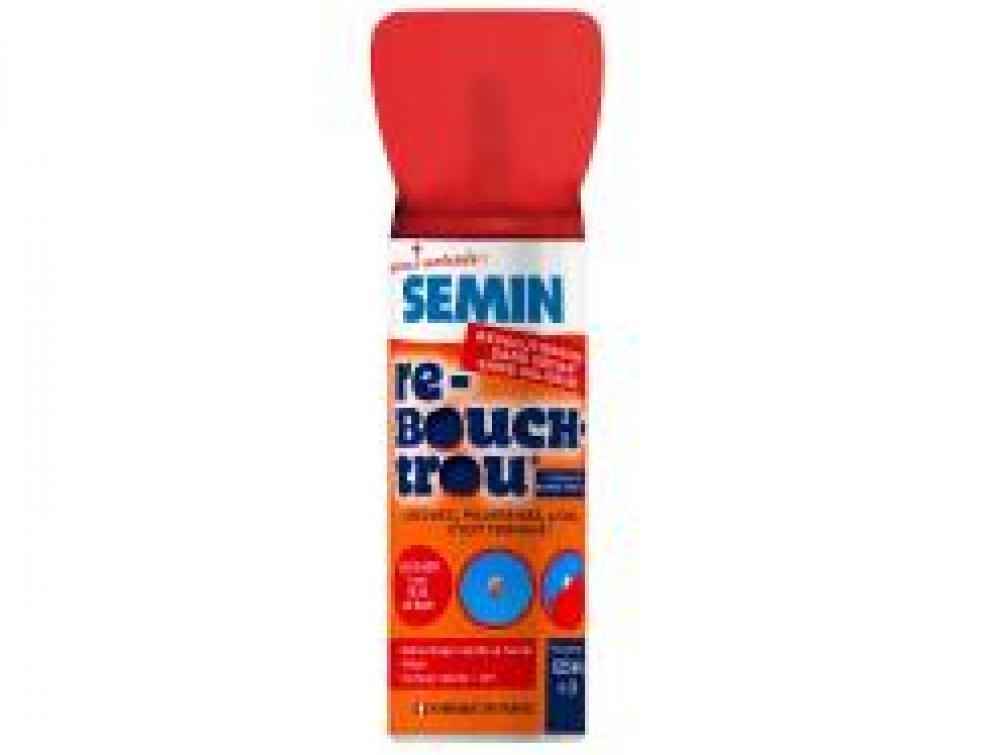 SEMIN vous présnete son nouveau produit RE-BOUCH-TROU, enduit de rebouchage en bombe