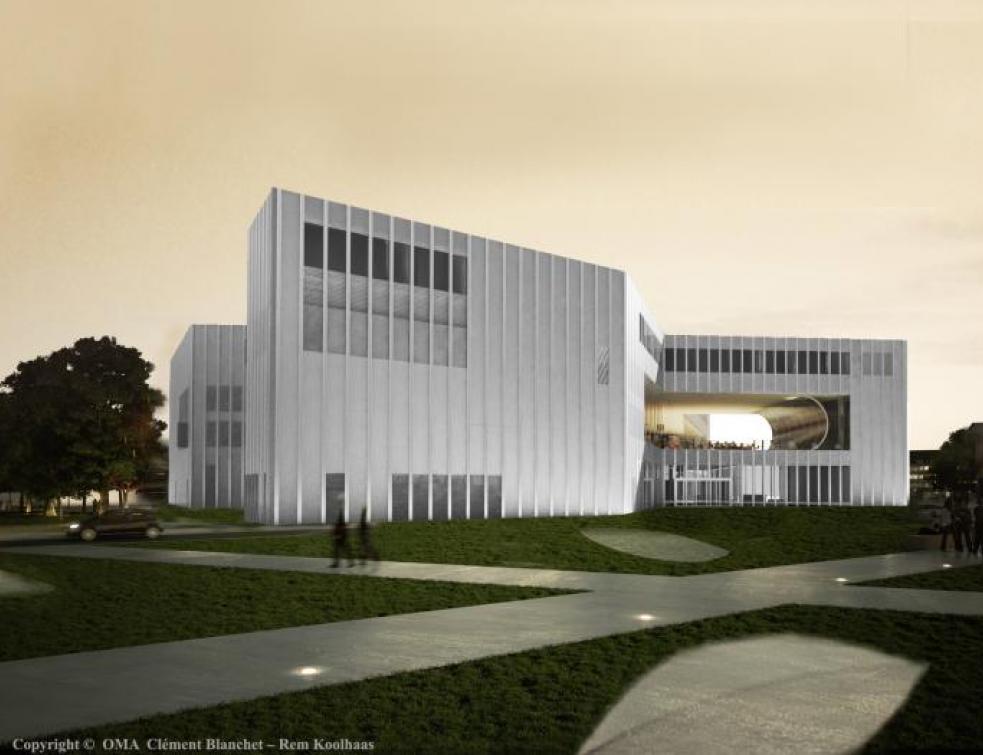 L'architecte Rem Koolhaas inaugure une bibilothèque