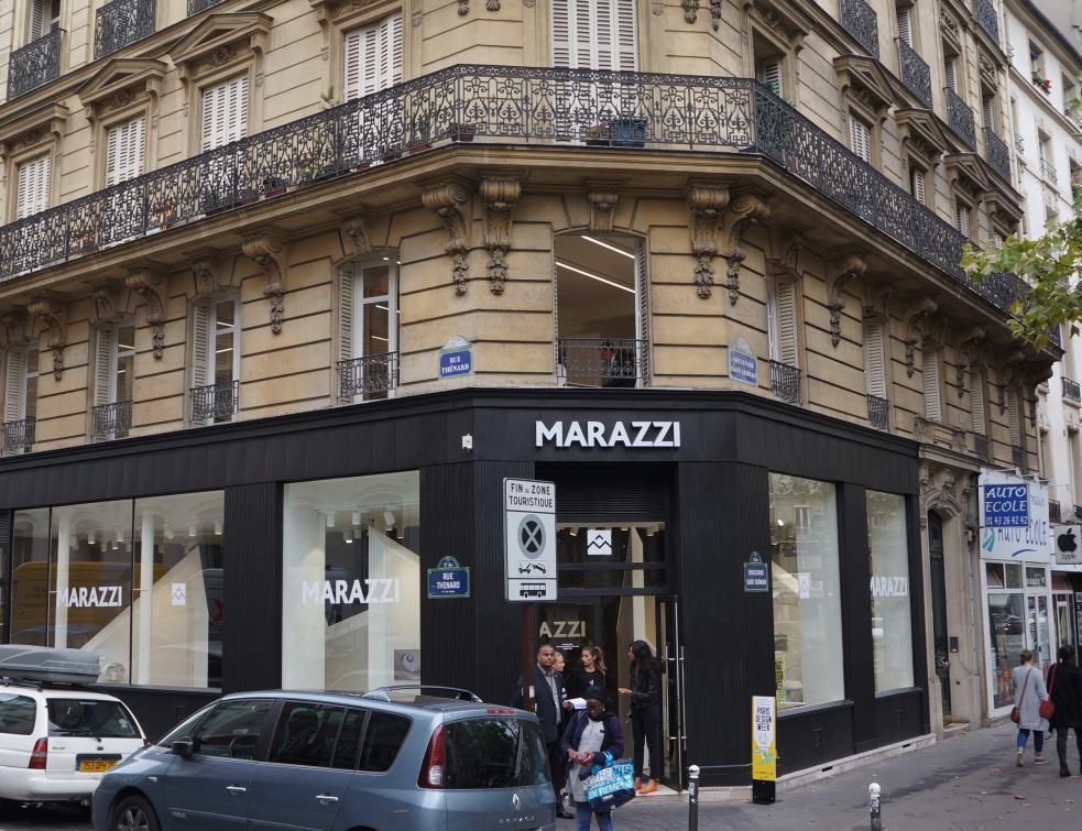 Un nouvel écrin parisien pour le carrelage italien Marazzi