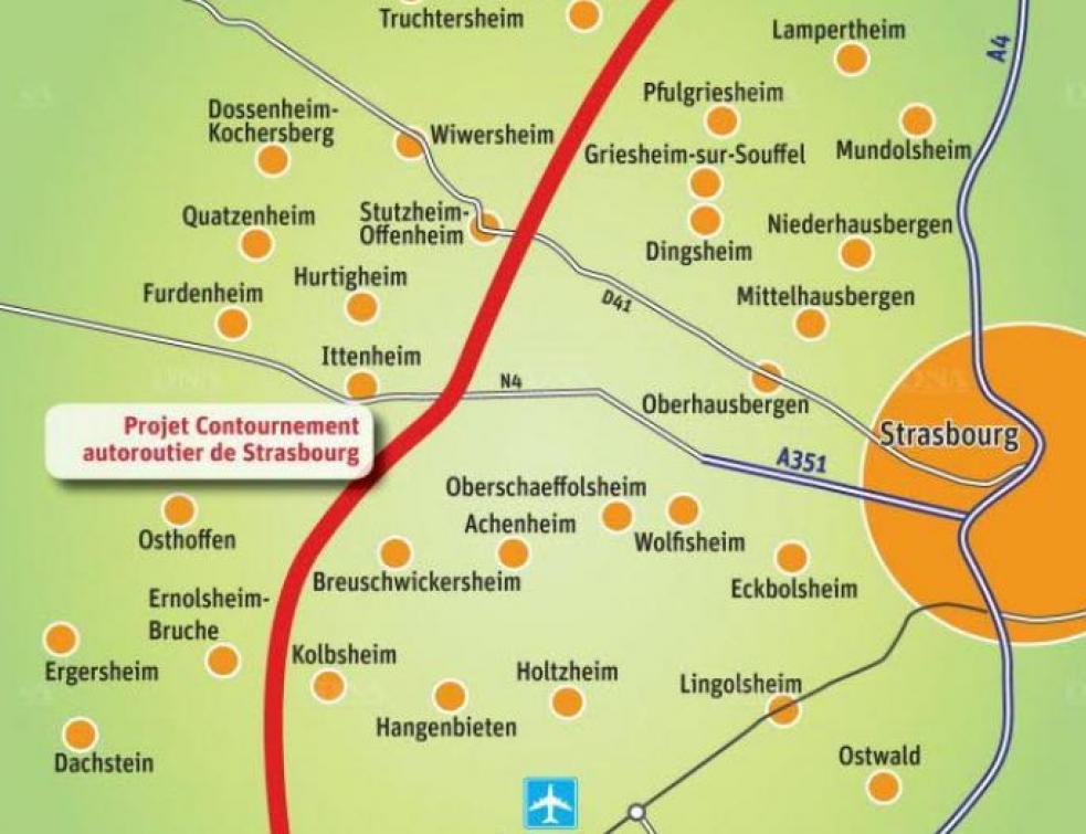 Le projet de rocade autoroutière à Strasbourg toujours contesté