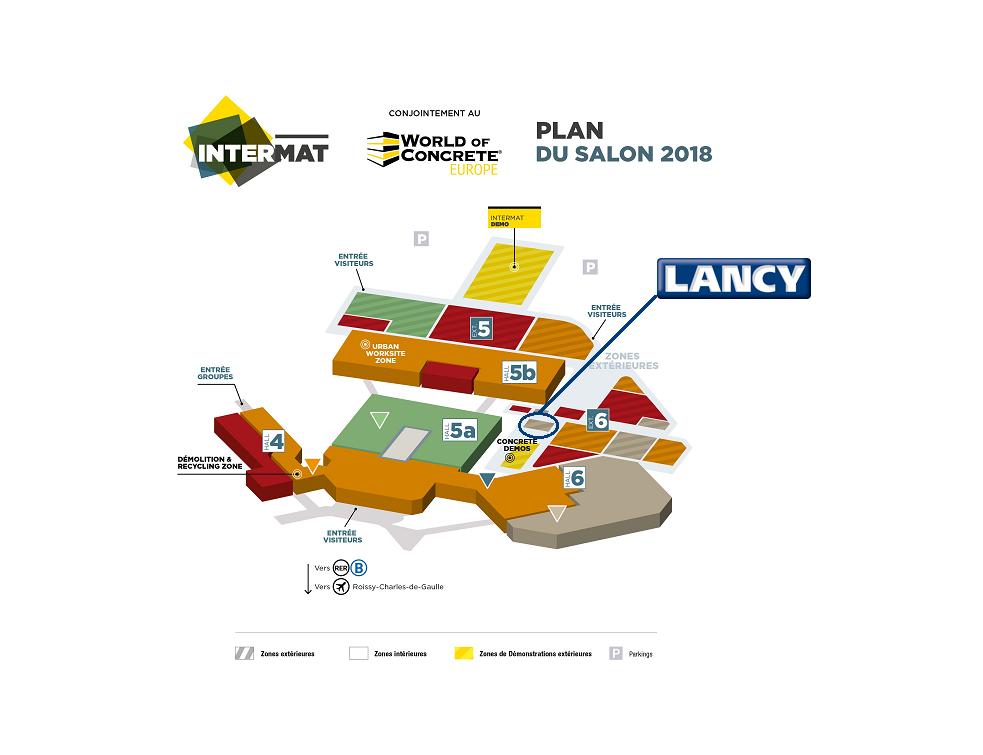 Lancy exposera à INTERMAT 2018 au sein du World of Concrete