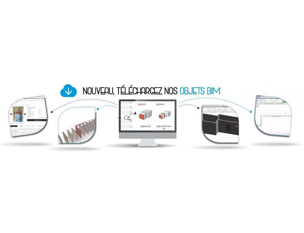 Développement des maquettes numérique des systèmes de façade Ecap® et Edil-Therm®