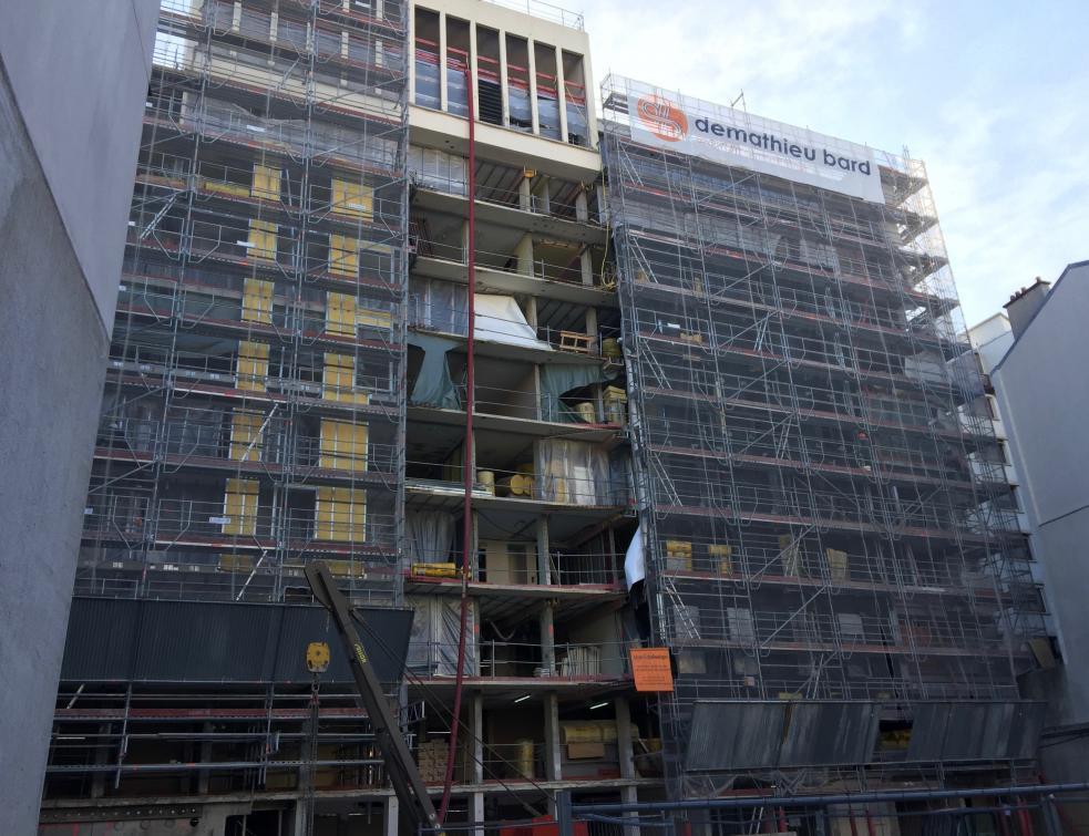 80 logements réhabilités et performants avec la Façade F4 à Paris