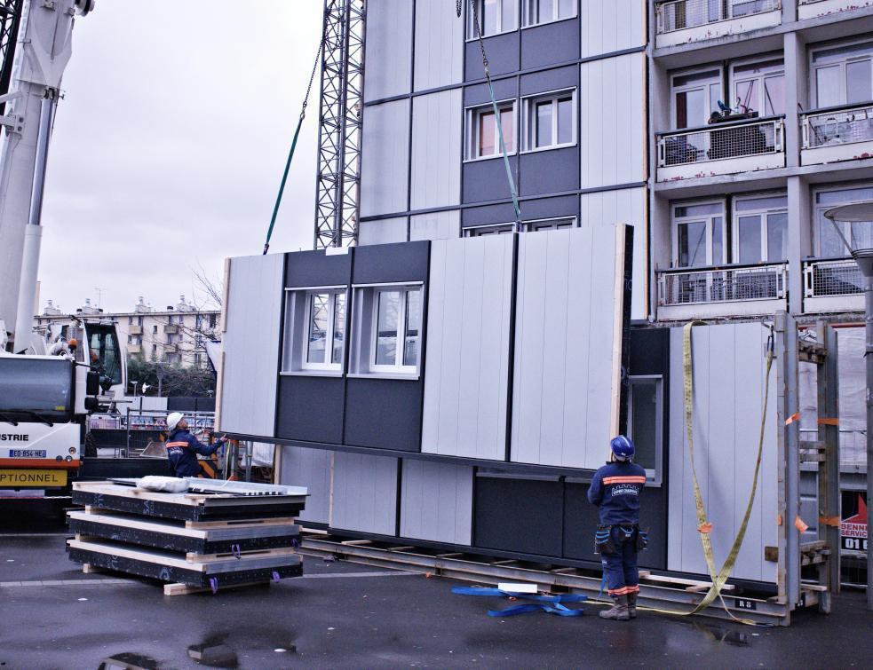Rénovation bas carbone par façades préfabriquées à Sarcelles