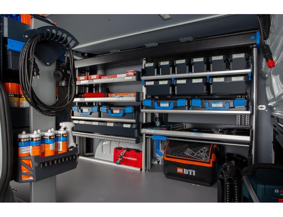 SR5 : Le système d'étagères de Sortimo pour véhicule utilitaire