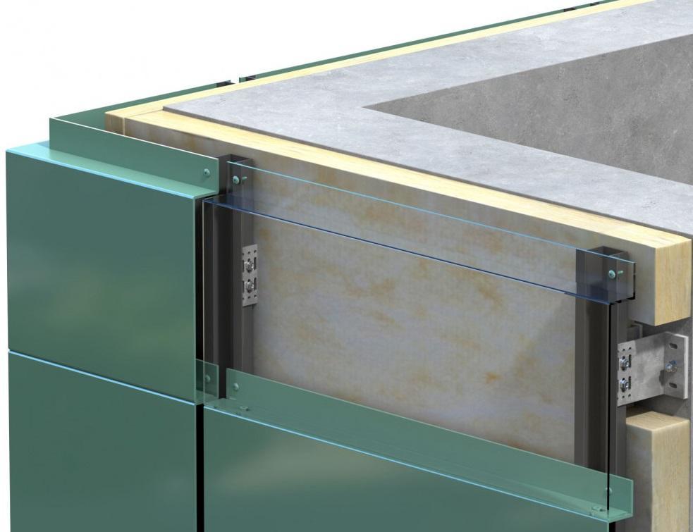 Acodi solution de fixation MILO : emboîtement des panneaux pour le bardage de façade