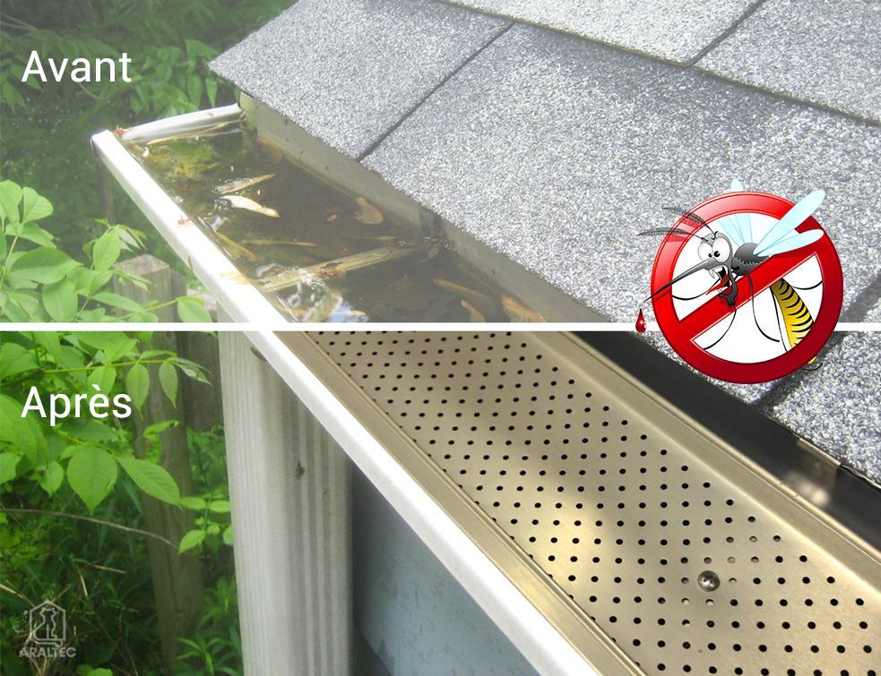Optimisation des gouttières : un accessoire innovant et anti-moustique !