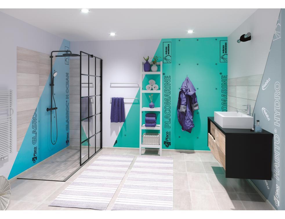 Placo® protège la salle de bains de l'humidité