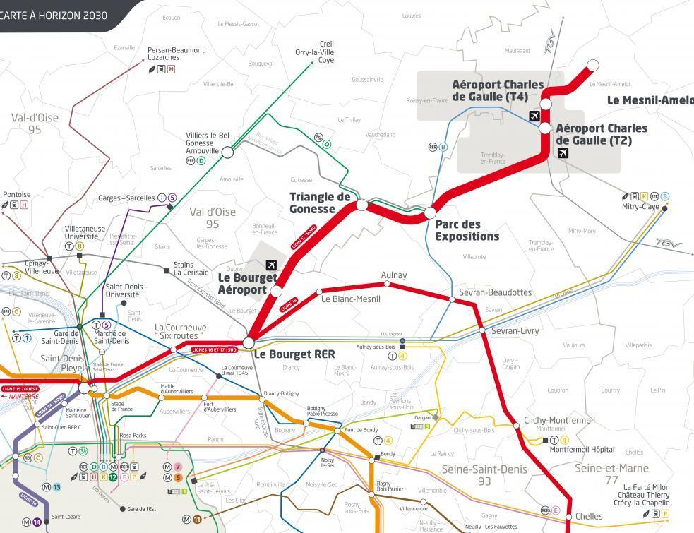 Des usagers opposés à la future ligne 17 du métro desservant Europacity