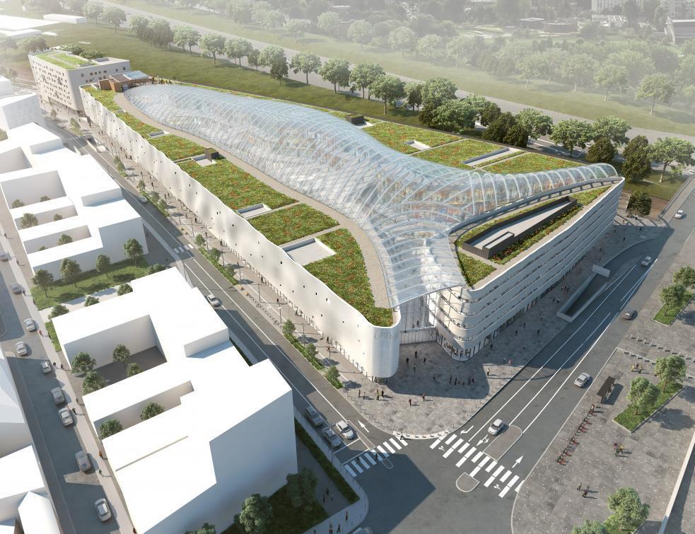 Futur centre commercial Lillenium : plus de 4 000 m2 de murs coupe-feu Ytong