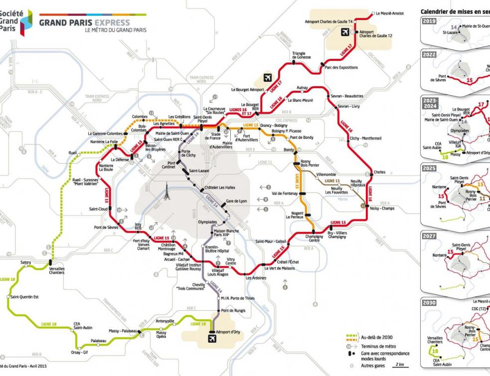 Le chantier du métro du Grand Paris monte en puissance en 2020