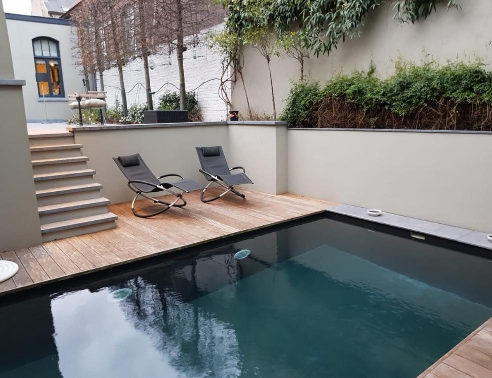 Enduit pour revêtements de bassin et terrasses à effet béton ciré