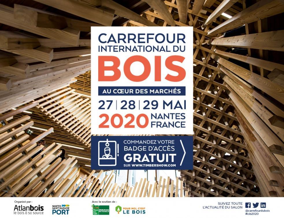 Carrefour International Du Bois, rendez-vous à Nantes, les 27, 28 et 29 mai 2020 !
