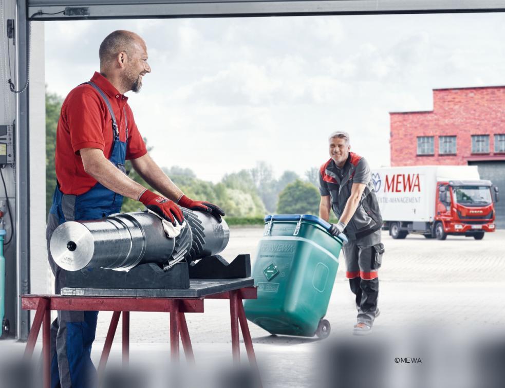 Les lavettes réutilisables MEWA contribuent à la sécurité des employés