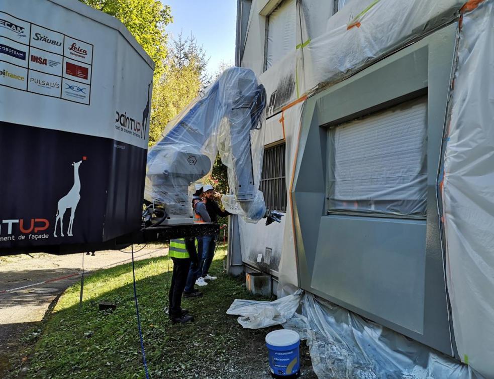 Le traitement de façade se robotise avec la technologie PaintUP