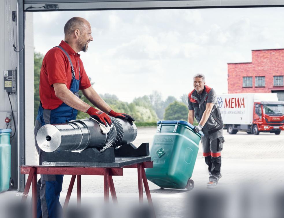 Les lavettes réutilisables MEWA contribuent à la sécurité des employé