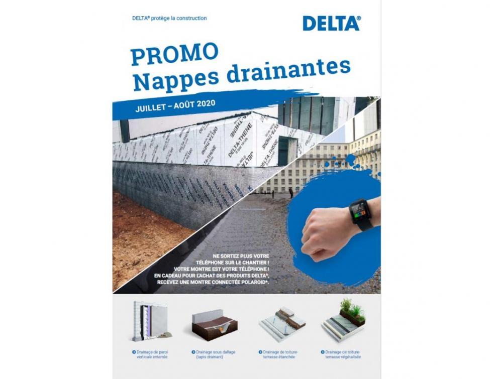Promotion sur le drainage DELTA
