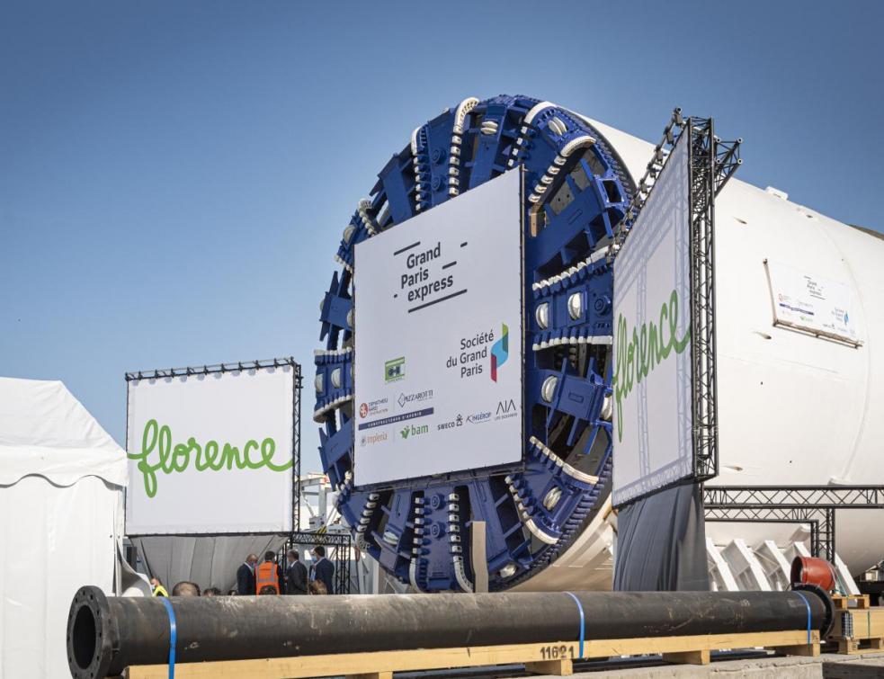 Grand Paris Express : les 19e et 20e tunneliers baptisés Houda et Florence