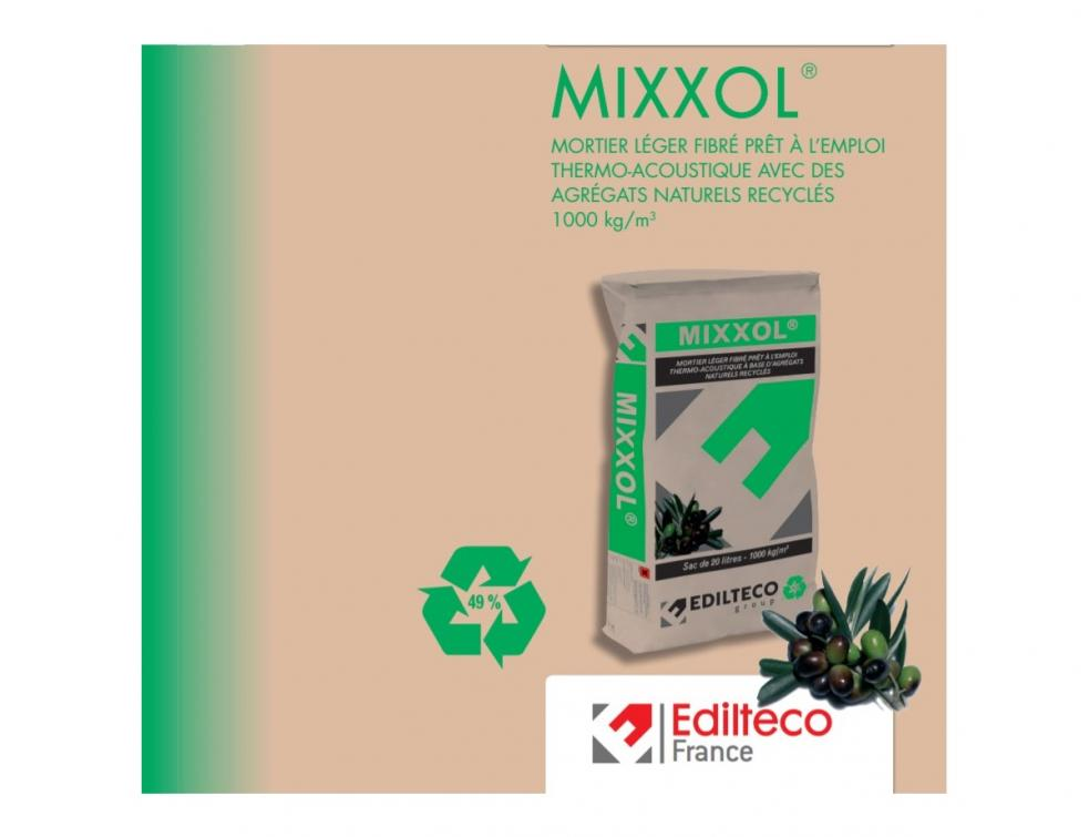 MIXXOL® , un mortier écologique, surdoué et poids léger