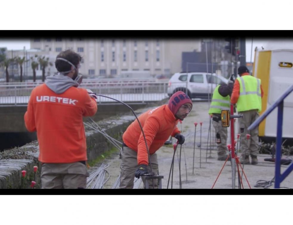 URETEK® sécurise le quai de la Divette à Cherbourg