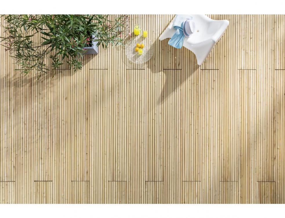 La terrasse en kit PINUTEX : une pose facile pour un repos immédiat