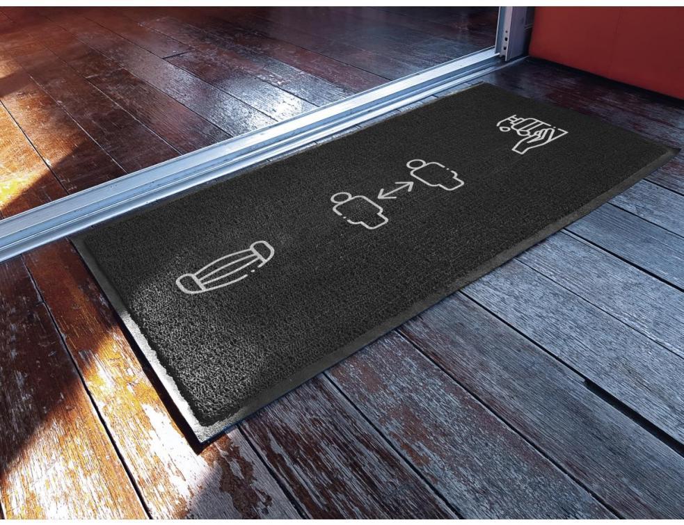 Les tapis de sol MEWA rappellent les règles d'hygiène