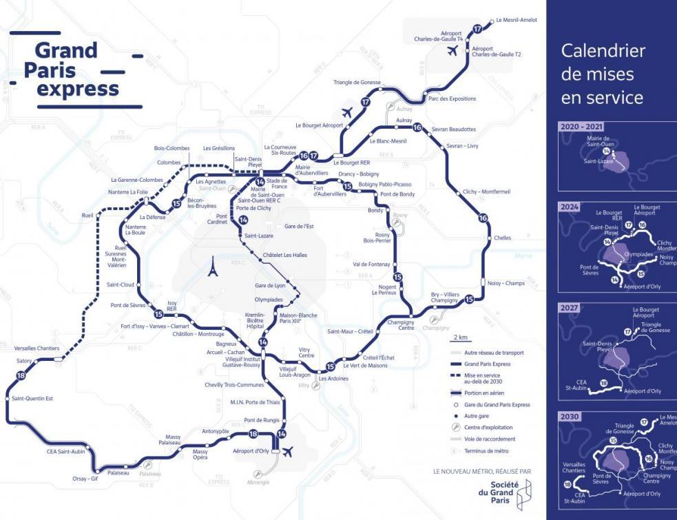 Coronavirus: le métro du Grand Paris confirme un retard de 3 à 8 mois
