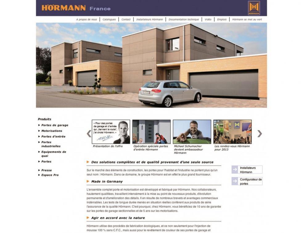 Hörmann lance son nouveau portail internet : clarté et efficacité à l'honneur