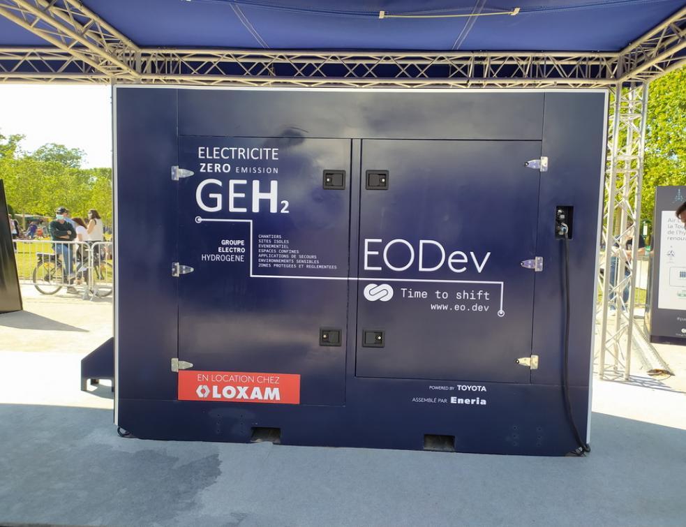L'hydrogène arrive sur les chantiers par le biais des groupes électrogènes