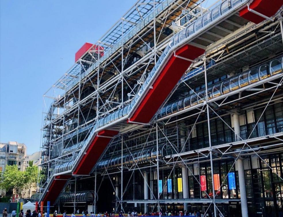 Centre Pompidou: l'emblématique