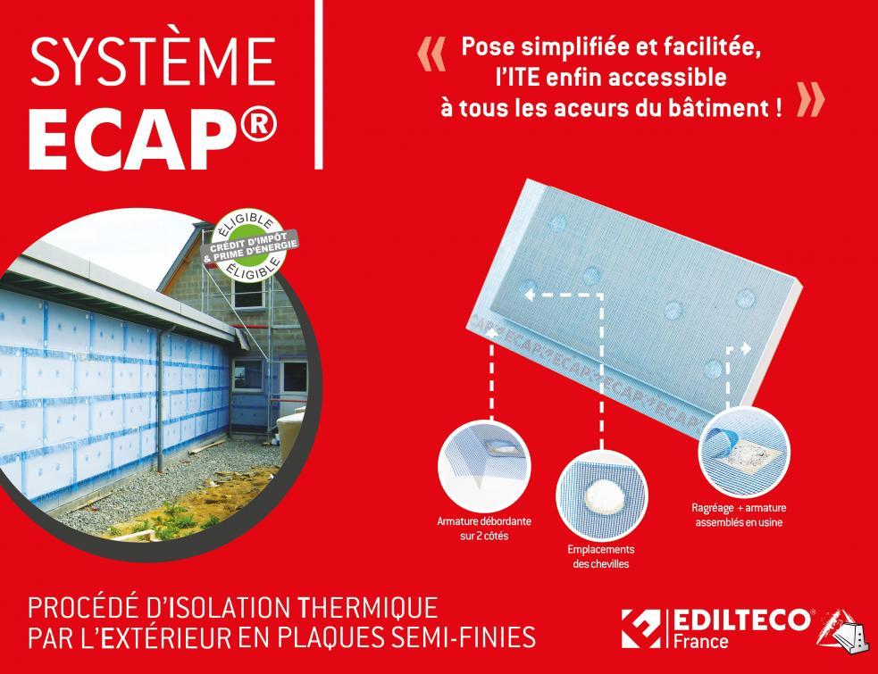 Le Système ECAP®, l'isolation thermique par l'extérieur par enduit mince avec des plaques semi-finie